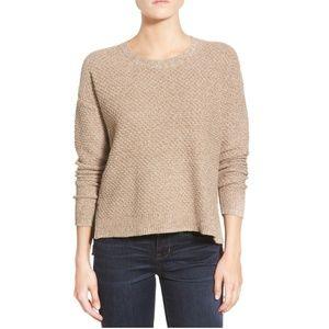 Madewell Landmark Texture Sweater-Marled Umber XS